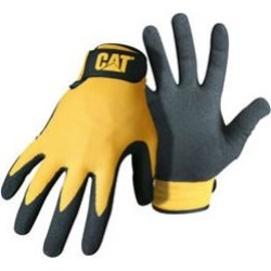 Cat r merchandise cat017416l3 yellow nylon nitrile coated palm gloves 3-pack large found on Bargain Bro India from MassGenie for $15.07