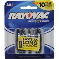 Rayovac Batteries Rv8154J Alkaline Aa Cell Batteries 4-Pack