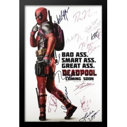 Deadpool - Cast Signed Movie Poster in Wood Frame + COA found on Bargain Bro India from MassGenie for $1185.75