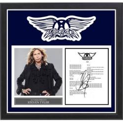 Aerosmith - Signed Music Lyrics in Photo Collage Frame