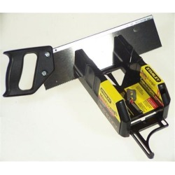 Stanley Hand Tools Saw Storage Mitre Box With Saw 19-800