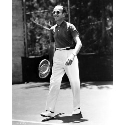 Carrying Two Tennis Rackets Photo Print