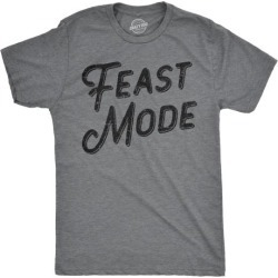 Mens Feast Mode Tshirt Funny Thanksgiving Dinner Tee
