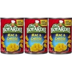 Chef Boyardee Mac & Cheese Pasta in Cheese Sauce 3 Can Pack