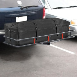 """ARKSEN© 60"""" Cargo Hauler Carrier Hitch Mounted Luggage Basket with Cargo Bag Combo"""