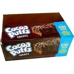 General Mills Cocoa Puffs Triple Chocolate Treat Cereal Bar 1.73 Ounce 12 Pack