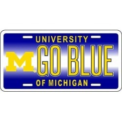 """Michigan Wolverines NCAA """"Go Blue"""" License Plate"""