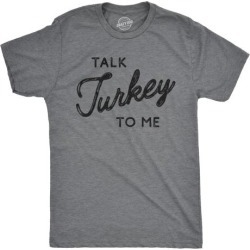 Mens Talk Turkey To Me Tshirt Funny Thanksgiving Dinner Tee