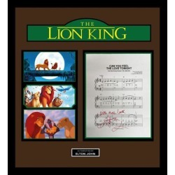 The Lion King - Signed Music Lyrics in Photo Collage Frame