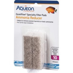 Aqueon 100106278 aqueon replacement ammonia reducer filter pads size 10 4 pack