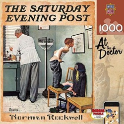 MasterPieces Saturday Evening Post At the Doctor - 1000 Piece Jigsaw Puzzle by Norman Rockwell