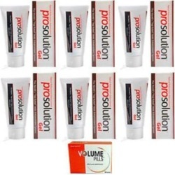 ProSolution Gel Topical Performance Enhancement 6 Tubes Plus FREE Volume Pills