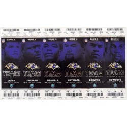 2012 Baltimore Ravens Home Game Unused Tickets Games 1-6 Set Ray Lewis Final Yr