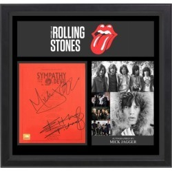 The Rolling Stones - Signed Music Lyrics in Photo Collage Frame