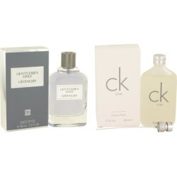 Gift set Gentlemen Only by Givenchy EDT Spray 3.4 oz And CK ONE EDT Pour/Spray (Unisex) 1.7 oz