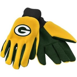 Green Bay Packers NFL Work Gloves(Pair) Football Team Logo Grip