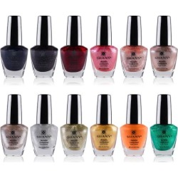 SHANY Cosmetics Nail Polish Set - 12 Gorgeous Semi Glossy and Shimmery Finishes with Quick-Dry and Chip-resistant Formulation