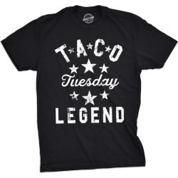 Mens Taco Tuesday Legend Tshirt Funny Cinco De Mayo Dinner Tee For Guys