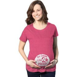 Maternity Ice Cream For 2 Please Tshirt Cute Pregnant Dessert Tee