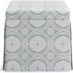 Skirted Storage Ottoman | Ivory Lellani found on Bargain Bro India from The Inside for $299.00
