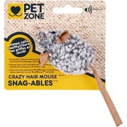 Pet Zone Snag-able Crazy Hair Mouse Cat Toy found on Bargain Bro Philippines from Chewy.com for $4.39
