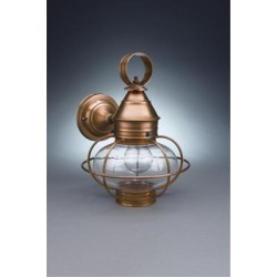Northeast Lantern Onion 13 Inch Tall 1 Light Outdoor Wall Light - 2525-VG-MED-OPT-NS found on Bargain Bro Philippines from Capitol Lighting for $458.03