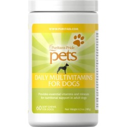 Puritan's Pride Pets Daily Vitamins for Adult Dogs-60 Chews