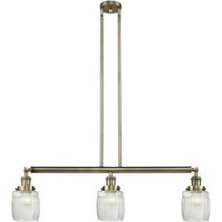 Innovations Lighting Bruno Marashlian Colton 38 Inch 3 Light Linear Suspension Light - 213-AB-G302-LED found on Bargain Bro India from Capitol Lighting for $583.55