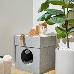 Frisco Single Cube Stackable and Collapsible Cat Condo, Gray found on Bargain Bro from Chewy.com for USD $26.59