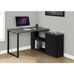 Computer Desk - Black / Grey Top Left/Right Facing Corner - Monarch Specialties I-7433 found on Bargain Bro India from totally furniture for $212.99