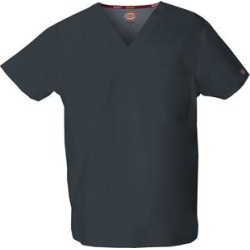 Dickies Women's Eds Signature V-Neck Scrub Top - Pewter Gray Size 2Xl (83706) found on Bargain Bro India from Dickies.com for $15.99