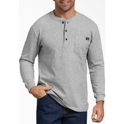 Dickies Men's Long Sleeve Heavyweight Henley Shirt - Heather Gray Size S (WL451) found on Bargain Bro Philippines from Dickies.com for $19.99