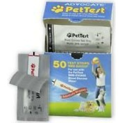 PetTest Advocate Blood Glucose Test Strips, 50 count