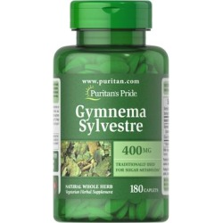 Puritan's Pride Gymnema Sylvestre 400 mg-180 Caplets found on Bargain Bro India from Puritan's Pride for $12.74