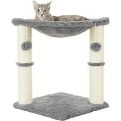 Frisco 20-in Faux Fur Cat Tree, Gray found on Bargain Bro from Chewy.com for USD $17.47
