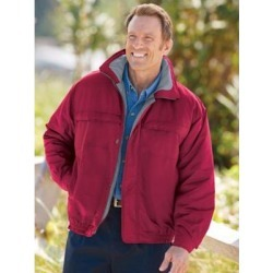 Men's Scandia Woods Microfiber Jacket, Red, Size XL TL found on Bargain Bro India from Blair.com for $29.99
