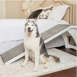 Solvit Wood Bedside Dog & Cat Ramp, White