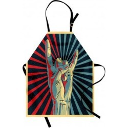 Ambesonne Music Apron - Brown