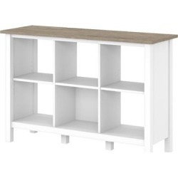 Bush Furniture Mayfield 6 Cube Bookcase in Pure White & Shiplap Gray - MAB145GW2-03 found on Bargain Bro India from totally furniture for $170.89