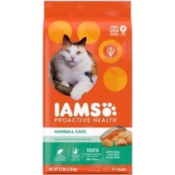 Iams ProActive Health Adult Hairball Care Dry Cat Food, 3.5-lb bag