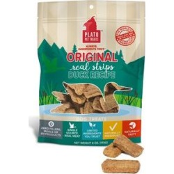 Plato Original Real Strips Duck Recipe Dog Treats, 3-oz bag found on Bargain Bro from Chewy.com for USD $2.59