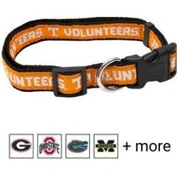 Pets First NCAA Dog Collar, Tennessee Volunteers, Medium found on Bargain Bro Philippines from Chewy.com for $9.49