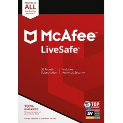 McAfee LiveSafe, 36-month Subscription, Unlimited Devices found on Bargain Bro from Lenovo for USD $98.79