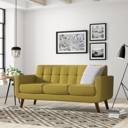 Langley Street Lester Square Arms Sofa LGLY6149 Upholstery: Olive Green