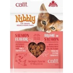 Catit Nibbly Cat Treats Salmon Cat Treats, 3.17-oz, 3 pack found on Bargain Bro India from Chewy.com for $7.69