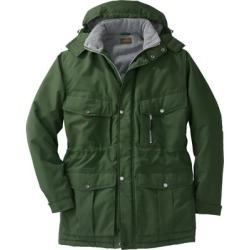 Men's Big & Tall Boulder Creek Fleece-Lined Parka with Detachable Hood and 6 Pockets in Olive (7XL) Polyester found on MODAPINS from King Size Direct for USD $44.98