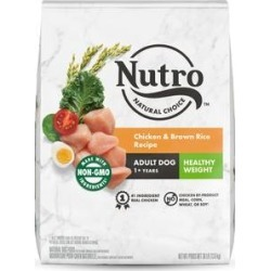 Nutro Wholesome Essentials Healthy Weight Adult Farm Raised Chicken, Brown Rice & Sweet Potato Recipe Dry Dog Food, 30-lb bag
