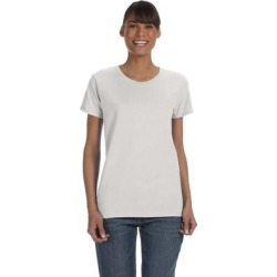 Gildan G500L Women's Heavy Cotton 5.3 oz. T-Shirt in Ash Grey size Large G5000L, 5000L found on MODAPINS from ShirtSpace for USD $2.80