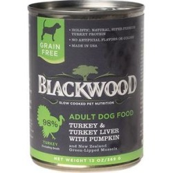 Blackwood Turkey & Turkey Liver With Pumpkin Grain-Free Adult Canned Dog Food, 13-oz, case of 12 found on Bargain Bro India from Chewy.com for $33.36