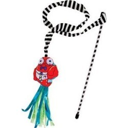 Fat Cat Catfisher Teasers Crawdaddy Wand Cat Toy